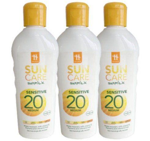 3er Set Hegron Sonnenmilch LSF 20 je 200ml für 7,77€ (statt 15€)