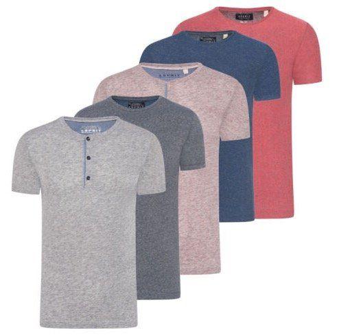 Esprit Herren T Shirt Grandad Rundhals ab 9,95€ (statt 13€)