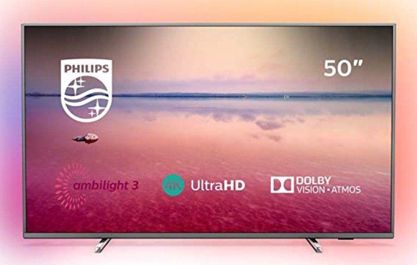 Philips 50PUS6754   50 Zoll UHD Fernseher mit 3 seitigem Ambilight für 395,10€ (statt 437€)