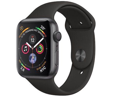 Apple Watch Series 4 GPS 44mm Space Grau ab 303€ (statt 399€)   wie neu