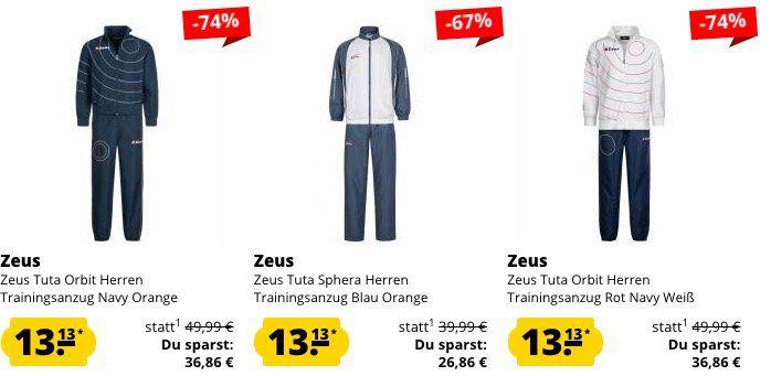 Zeus Trainingsanzüge für je nur 17€ (statt 30€)