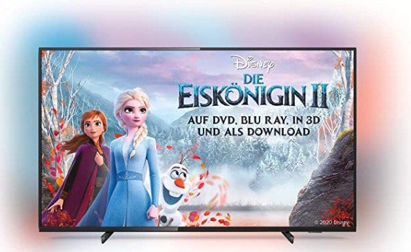 Philips 50PUS6704   50 Zoll UHD Fernseher mit Ambilight + Dolby Atmos ab 317,64€ (statt 393€)