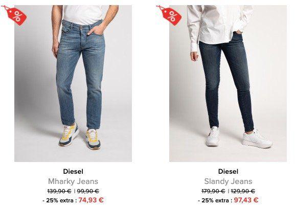 Jeans mit 25% Rabatt + keine VSK + 10% Gutschein bei dress for less