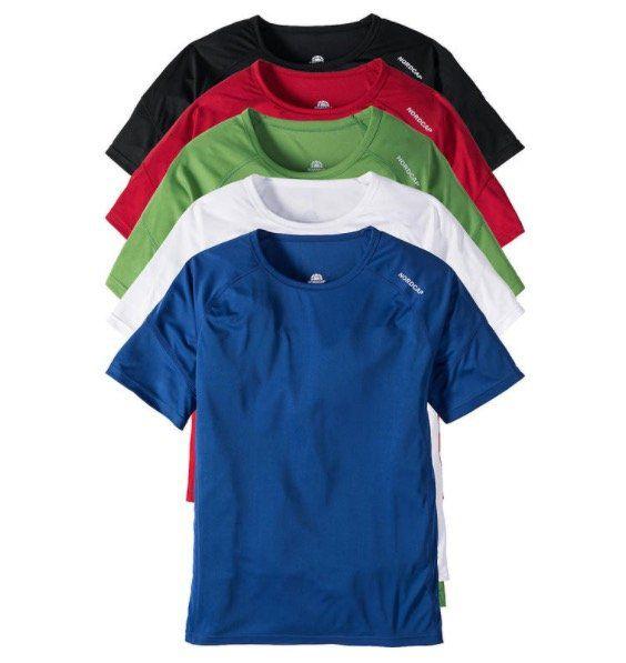 5er Pack Nordcap Funktionsshirts mit Mesh-Einsätzen für 39,99€ (statt 50€) + gratis Rucksack