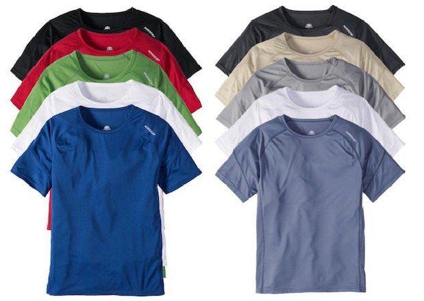 5er Pack Nordcap Funktionsshirts mit Mesh Einsätzen für 36,49€ (statt 50€)