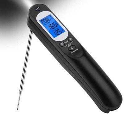 TURATA Fleischthermometer für bis zu 300°C inkl. Taschenlampe für 9,45€   Prime
