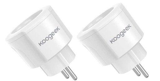 2er Pack Koogeek WLAN Steckdosenadapter mit Energieüberwachung für 14,99€ (statt 19€)