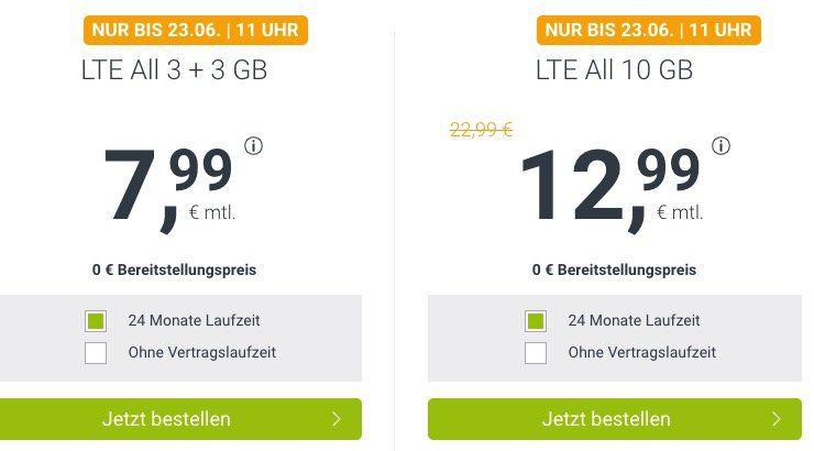 o2 Allnet Flat mit 6GB LTE für 7,99€mtl. oder 10GB für 12,99€ mtl. + keine Laufzeit