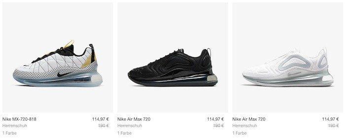 Nike Air Max 720 in vielen Farben ab 80,48€ (statt 133€)   teilweise nur Restgrößen