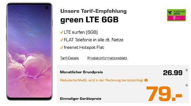 Ausverkauft! Samsung Galaxy S10 + Xbox One X inkl. GTA 5 für 79€ + Telekom Flat mit 6GB LTE für 26,99€ mtl.
