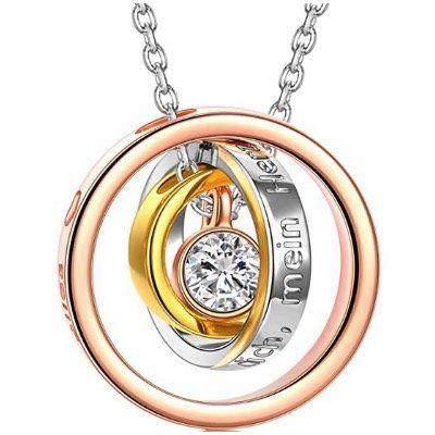 Kami Idea   Halskette mit Gravur Ich liebe dich über alles für 9,99€ (statt 25€)   Prime