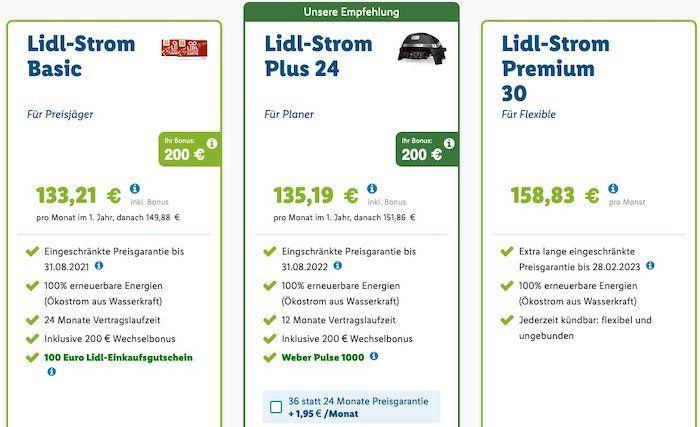 Über Lidl zu e.on 100% Ökostrom wechseln   bis 200€ Bonus + Weber Pulse 1000 (Vergleich 426€)