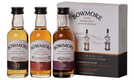 Bowmore Whisky Miniaturen Set 12, 15, 18 Jahre (3x 5cl) für 16,99€ (statt 25€)