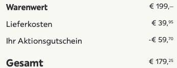 Dreisitzer Sofa Esther mit Schlaffunktion in Grau inkl. Lieferung für 179,25€