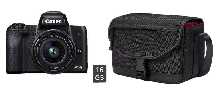 CANON EOS M50 Systemkamera 24.1 MP als Kit mit 15 45mm Objektiv ab 434€ (statt 595€)