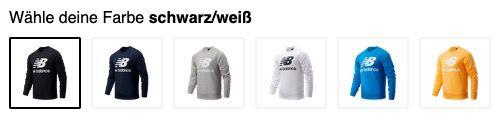 New Balance Sweatshirt Stacked Logo Crew in diversen Farben für 32,95€ (statt 39€)