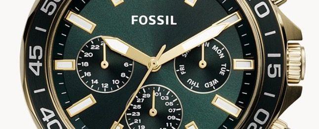 FOSSIL Multifunktion Herrenuhr Bannon 45mm aus goldenem Edelstahl für 89,76€ (statt 151€)
