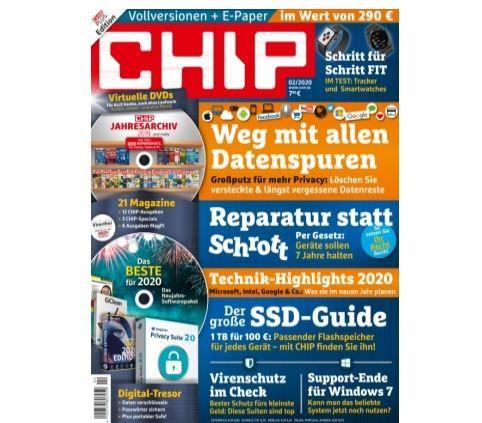 Chip Plus im Jahres Abo mit 12 Ausgaben statt 95,40€ für nur 34,95€ dank Sofortrabatt