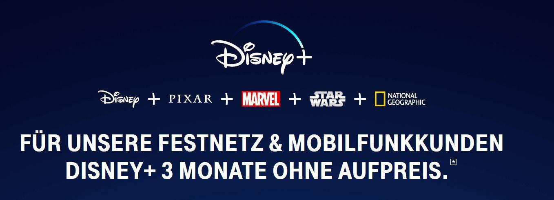 3 Monate Disney+ gratis   danach 5€ statt 6,99€ mtl. auch für nicht Telekom Kunden