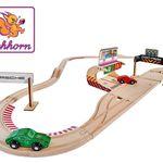 Vorbei! Eichhorn Holz Schienenbahn im Set Porsche Racing für 24,82€ (statt 42€)