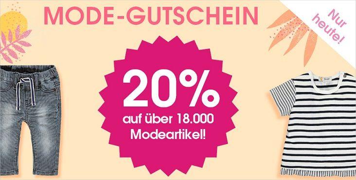 Babymarkt: 20% Rabatt auf Kinder  & Baby Mode auch im Sale bis Mitternacht + VSK frei ab 40€