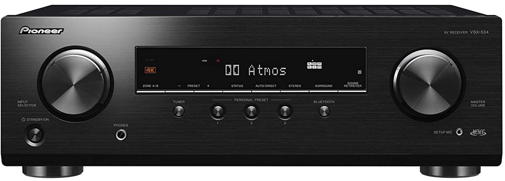 Pioneer VSX 534D   5.1 DolbyAtmos AV Receiver mit DAB+ für 220€ (statt 301€)
