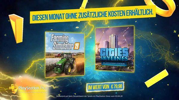 PlayStation Store: Cities: Skylines (IMDb 7,9/10) & Landwirtschaft Simulator 19 (IMDb 6,6/10) gratis