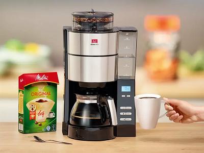 MELITTA 1021 01 AromaFresh Kaffeefiltermaschine in Schwarz/Edelstahl für 100€ (statt 109€)