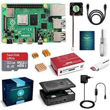Raspberry Pi 4 Model B Kit mit 2GB & 32GB SD Karte für 71,24€ (statt 92€)