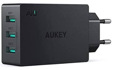 Aukey 30W USB Ladegerät mit 3 Ports für 13,86€ (statt 19€)   Prime