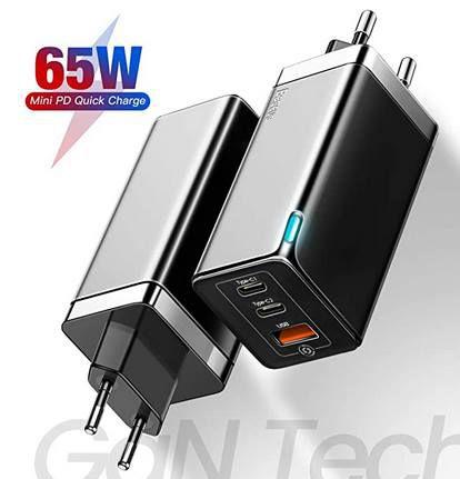 Baseus 65W USB C Steckdosen Ladegerät mit GaN Technologie für 22,49€ (statt 50€)