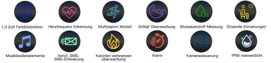 COULAX SN82 Smartwatch mit Trackingfunktion & Herzfrequenzüberwachung für  20,49€ (statt 40€)