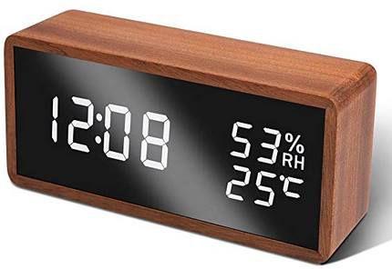 Unionup LED Uhr mit Wecker, Temperatur & Luftfeuchtigkeit für 17,39€ (statt 26€) Prime