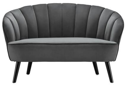 TOP! Kleines Sofa Luise mit Mikrofaser Samtbezug für 90,76€ (statt 120€)