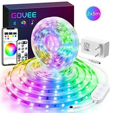 2x 5m Govee RGB LED Streifen mit App Steuerung für 27,99€ (statt 40€)