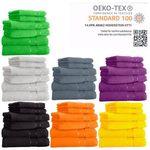 6er Pack Handtücher aus 100% Baumwolle (je 2x Dusch-, Hand- & Gästetuch) für 18,99€ (statt 25€) – 16 Farben