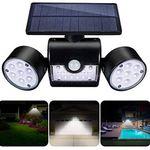 LED Solar Außenlampe mit 3 Strahlern für 16,99€ (statt 23€)