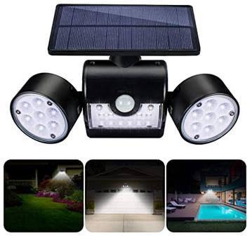 LED Solar Außenlampe mit 3 Strahlern für 13,99€ (statt 23€) – Prime