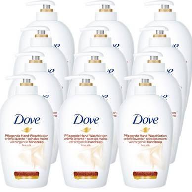 12x Dove Flüssigseife (250ml) Pflegende Waschlotion Seifenspender für 17,99€ (statt 24€)