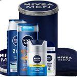 NIVEA MEN Geschenkset mit Creme, Shampoo, Duschgel, Deo, Handtuch & mehr für 15,99€ (statt ~22€)
