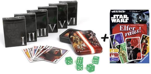Star Wars Spielkarten Collectors Set + Elfer raus! Kartenspiel für 16,99€ (statt 23€)