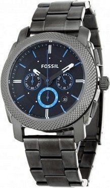 FOSSIL Machine FS4552 Herrenuhr mit Edelstahl Armband in grau für 94,95€ (statt 119€)