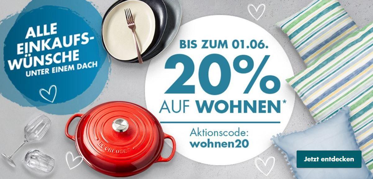 Galeria 20% extra Rabatt auf Wohnen und Fashion: z.B. 60 teiliges Besteck Set WMF Atria für 71,99€ (statt 114€)