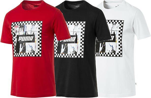 Puma Check Graphic T Shirt in 3 Farben für je 12,80€ (statt 16€)