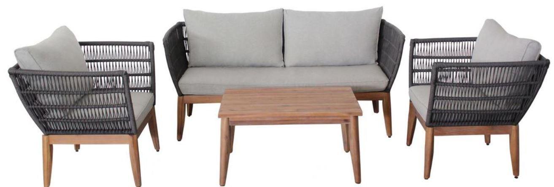 Bessagi Garden Manolo 4 teilige Loungegarnitur mit Kissen für 375€ (statt 799€)
