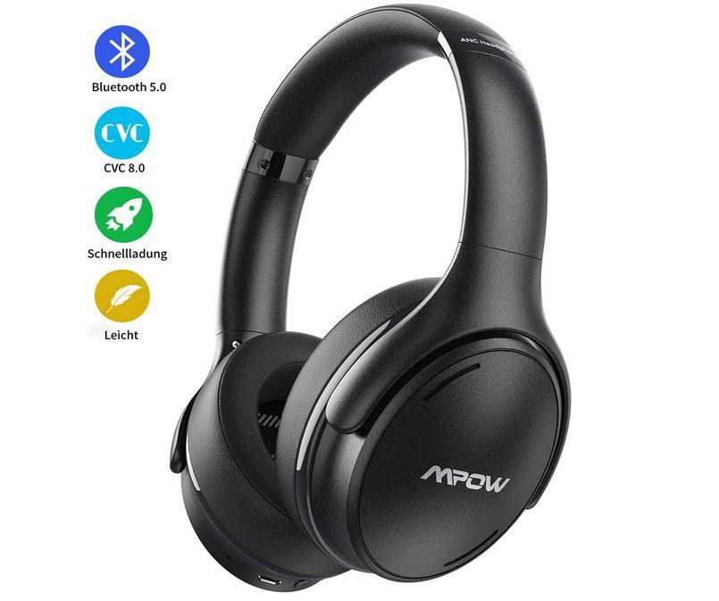Mpow H19 IPO Noice Cancelling Over Ear Kopfhörer für 27,99€ (statt 48€)