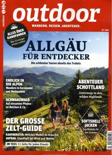 Jahresabo outdoor Magazin für 72€ + Prämie: 65€ Verrechnungsscheck