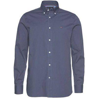 Tommy Hilfiger Langarmhemd in Blau für 48,93€ (statt 70€)