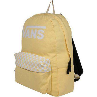 VANS Rucksack REALM in Gelb / Weiß für 20,93€ (statt 34€)