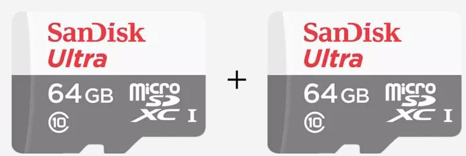 Doppelpack: Sandisk Ultra microSDXC Speicherkarte 64GB für 14€ (statt 34€)